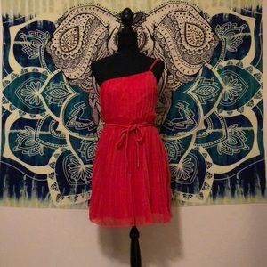 Beautiful one strap coral dress
